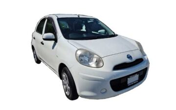 Rent Nissan March White Com010