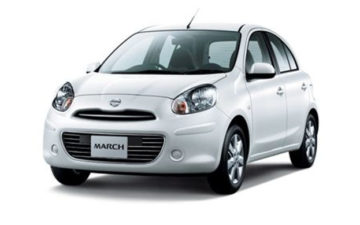 Rent Nissan March White Com010