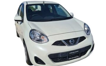 Rent Nissan March White Com032
